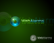Logo for WebAlarms - Alert services on the web - Entry #173
