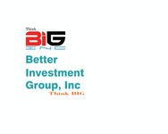 Better Investment Group, Inc. Logo - Entry #100