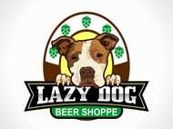 Lazy Dog Beer Shoppe Logo - Entry #7
