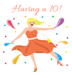 Having a 10! Logo - Entry #50