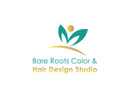 Bare Roots Color & Hair Design Studio Logo - Entry #34