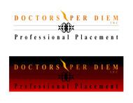 Doctors per Diem Inc Logo - Entry #14