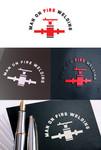 Man on fire welding Logo - Entry #49