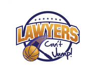 "charity basketball event logo (name with logo is ""lawyers can't jump"") - Entry #8"