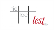 TicTacTest Logo - Entry #16