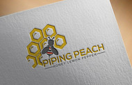Piping Peach, Honey Lemon Pepper Logo - Entry #33