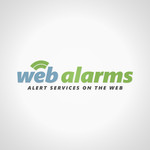 Logo for WebAlarms - Alert services on the web - Entry #133