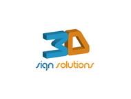 3D Sign Solutions Logo - Entry #16