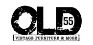 """""""OLD 55"""" - mid-century vintage furniture and wares store Logo - Entry #129"""