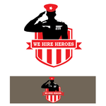 """We Hire Heroes""  Or ""We Hire Veterans"" Logo - Entry #31"