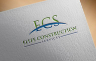Elite Construction Services or ECS Logo - Entry #122