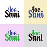 Joe Sani Logo - Entry #166