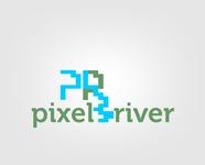 Pixel River Logo - Online Marketing Agency - Entry #150