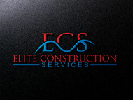 Elite Construction Services or ECS Logo - Entry #132