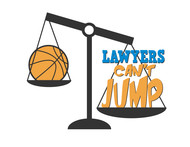 "charity basketball event logo (name with logo is ""lawyers can't jump"") - Entry #20"