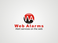 Logo for WebAlarms - Alert services on the web - Entry #85