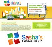 Sasha's Social Media Logo - Entry #187