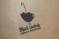 Black umbrella coffee & cocktail lounge Logo - Entry #109