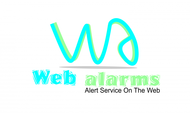 Logo for WebAlarms - Alert services on the web - Entry #105