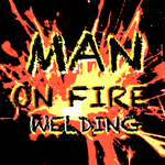 Man on fire welding Logo - Entry #73
