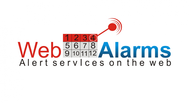 Logo for WebAlarms - Alert services on the web - Entry #64