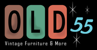 """""""OLD 55"""" - mid-century vintage furniture and wares store Logo - Entry #202"""