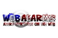 Logo for WebAlarms - Alert services on the web - Entry #185
