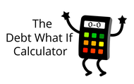 The Debt What If Calculator Logo - Entry #133