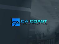 CA Coast Construction Logo - Entry #97