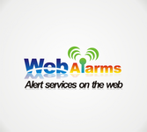 Logo for WebAlarms - Alert services on the web - Entry #22