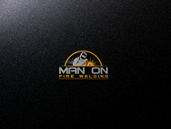 Man on fire welding Logo - Entry #34