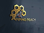 Piping Peach, Honey Lemon Pepper Logo - Entry #37