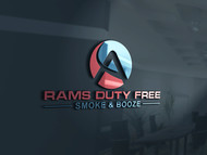 Rams Duty Free + Smoke & Booze Logo - Entry #44