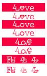 Four love Logo - Entry #143