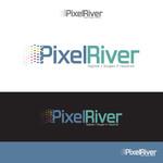 Pixel River Logo - Online Marketing Agency - Entry #93