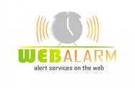 Logo for WebAlarms - Alert services on the web - Entry #128