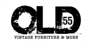 """""""OLD 55"""" - mid-century vintage furniture and wares store Logo - Entry #128"""