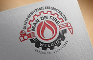 Man on fire welding Logo - Entry #22