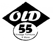 """""""OLD 55"""" - mid-century vintage furniture and wares store Logo - Entry #188"""