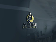 Allure Spa Nails Logo - Entry #128