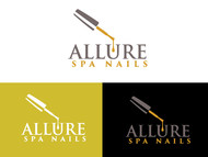 Allure Spa Nails Logo - Entry #108