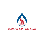Man on fire welding Logo - Entry #47