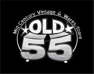 """""""OLD 55"""" - mid-century vintage furniture and wares store Logo - Entry #134"""