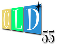 """""""OLD 55"""" - mid-century vintage furniture and wares store Logo - Entry #60"""