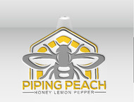 Piping Peach, Honey Lemon Pepper Logo - Entry #40