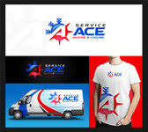 Service ace heating and cooling Logo - Entry #69
