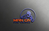 Man on fire welding Logo - Entry #31