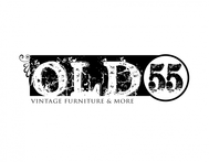 """""""OLD 55"""" - mid-century vintage furniture and wares store Logo - Entry #111"""