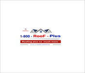 1-800-Roof-Plus Logo - Entry #121