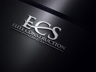 Elite Construction Services or ECS Logo - Entry #105